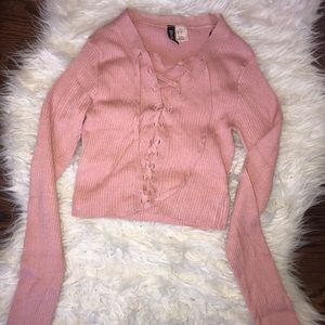 Pink cropped long sleeve